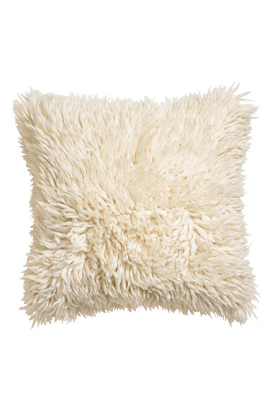 Wool-blend cushion cover - Natural white -  | H&M CN
