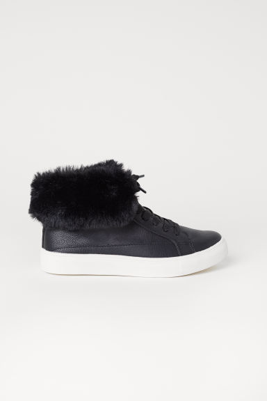 Warm-lined hi-tops - Black - Kids | H&M