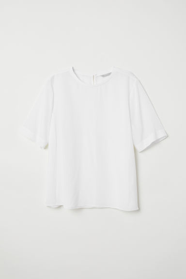 Silk top - White - Ladies | H&M