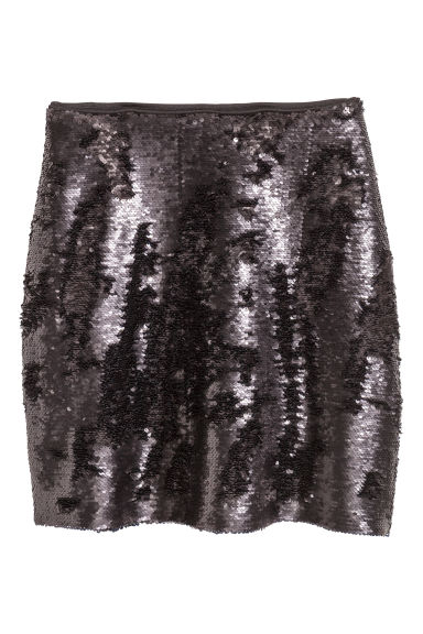Sequined skirt - Black -  | H&M