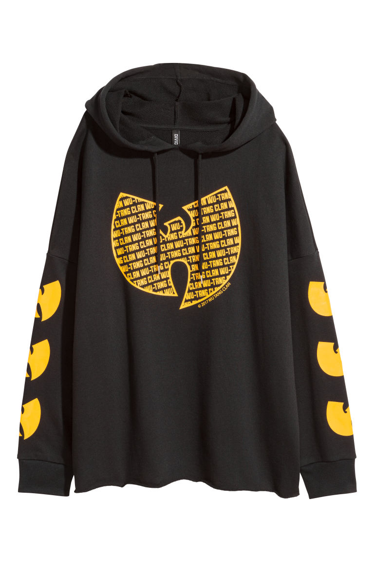 Printed hooded top - Black/Wu-Tang Clan - Ladies | H&M