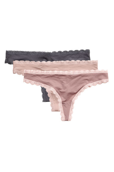 3-pack Brazilian briefs - Nougat - Ladies | H&M CN