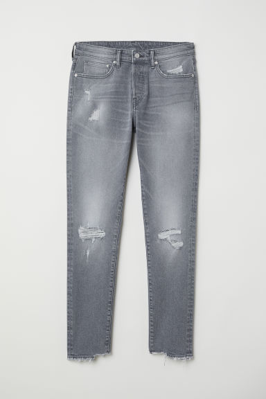 Trashed Skinny Jeans - Light denim grey - Men | H&M CN