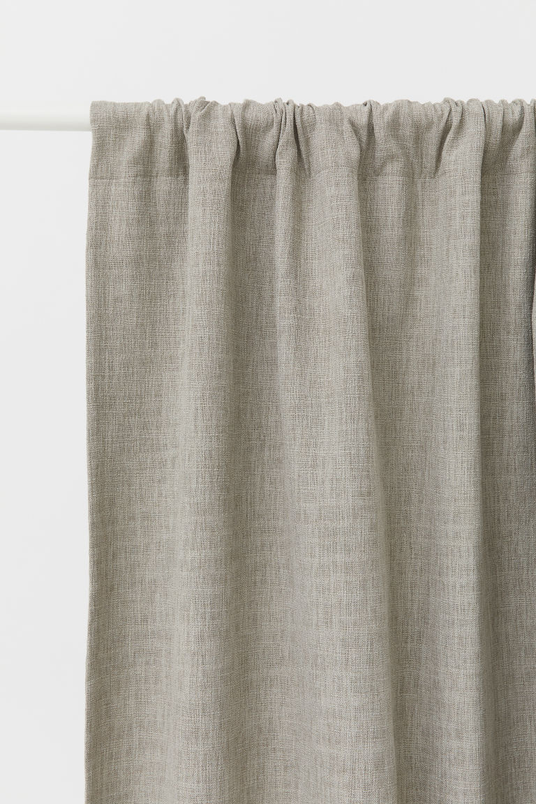 Rideaux occultants, lot de 2 - Taupe - Home All | H&M FR