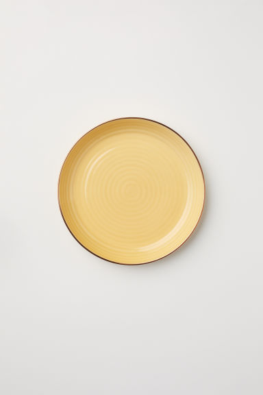 Textured porcelain plate - Yellow - Home All | H&M CN