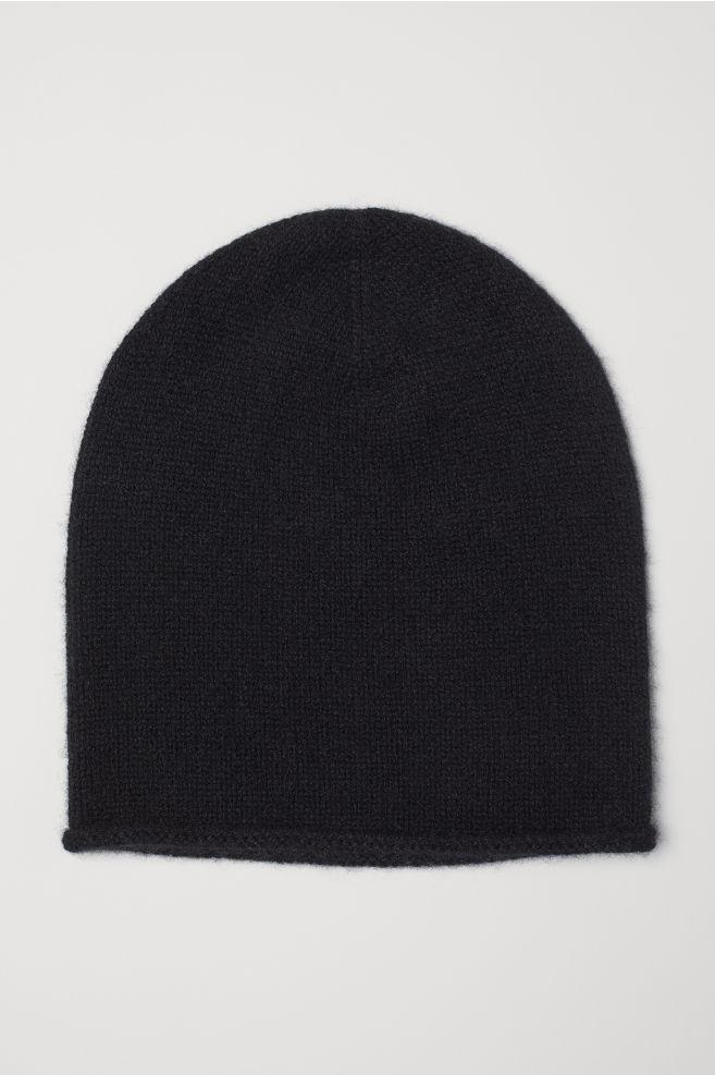 f73ca3f3366 Cashmere hat - Black - Ladies