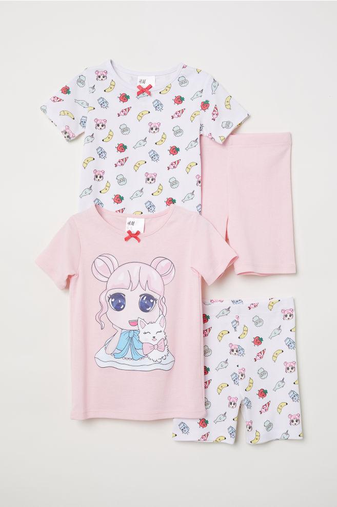 2c93cacdc0 2-pack Jersey Pajamas - Pink manga - Kids