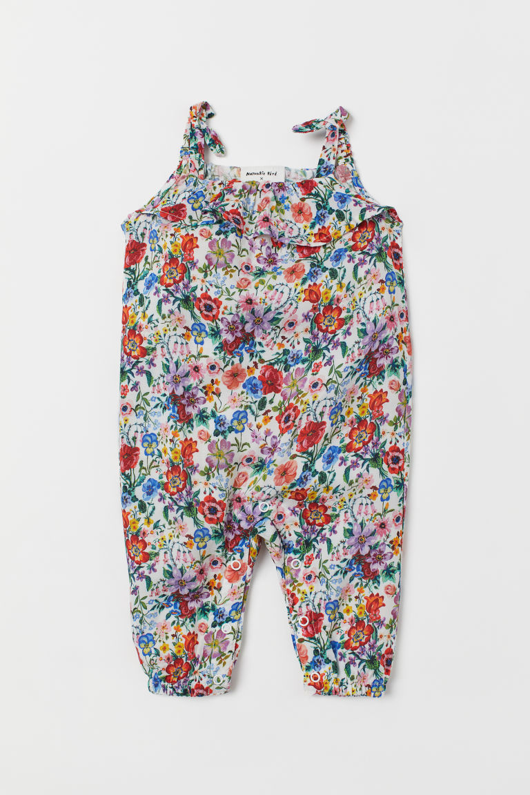 Patterned Jumpsuit - White/floral - Kids | H&M US