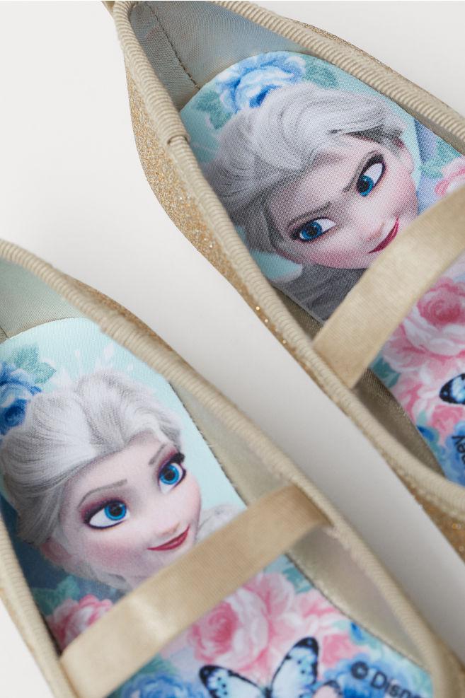 2e5ef4955 ... Glittery ballet pumps - Gold-coloured/Frozen - Kids | H&M ...