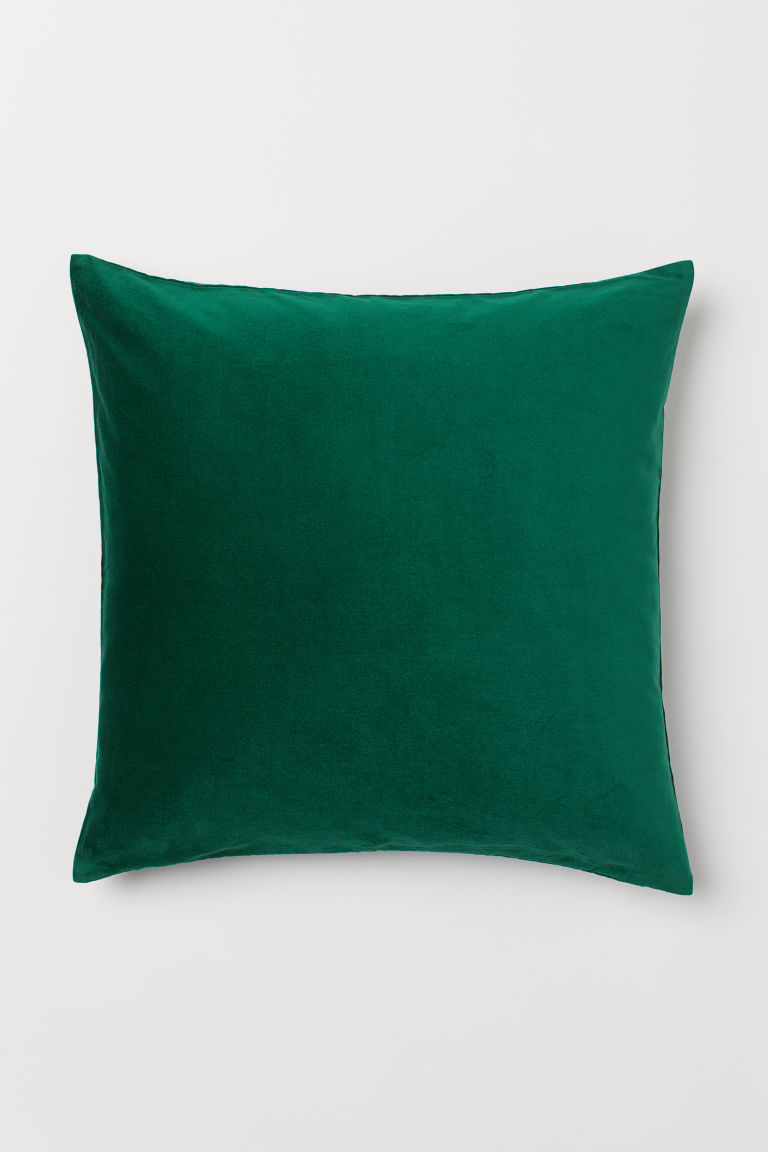 Velvet cushion cover - Emerald green - Home All | H&M GB