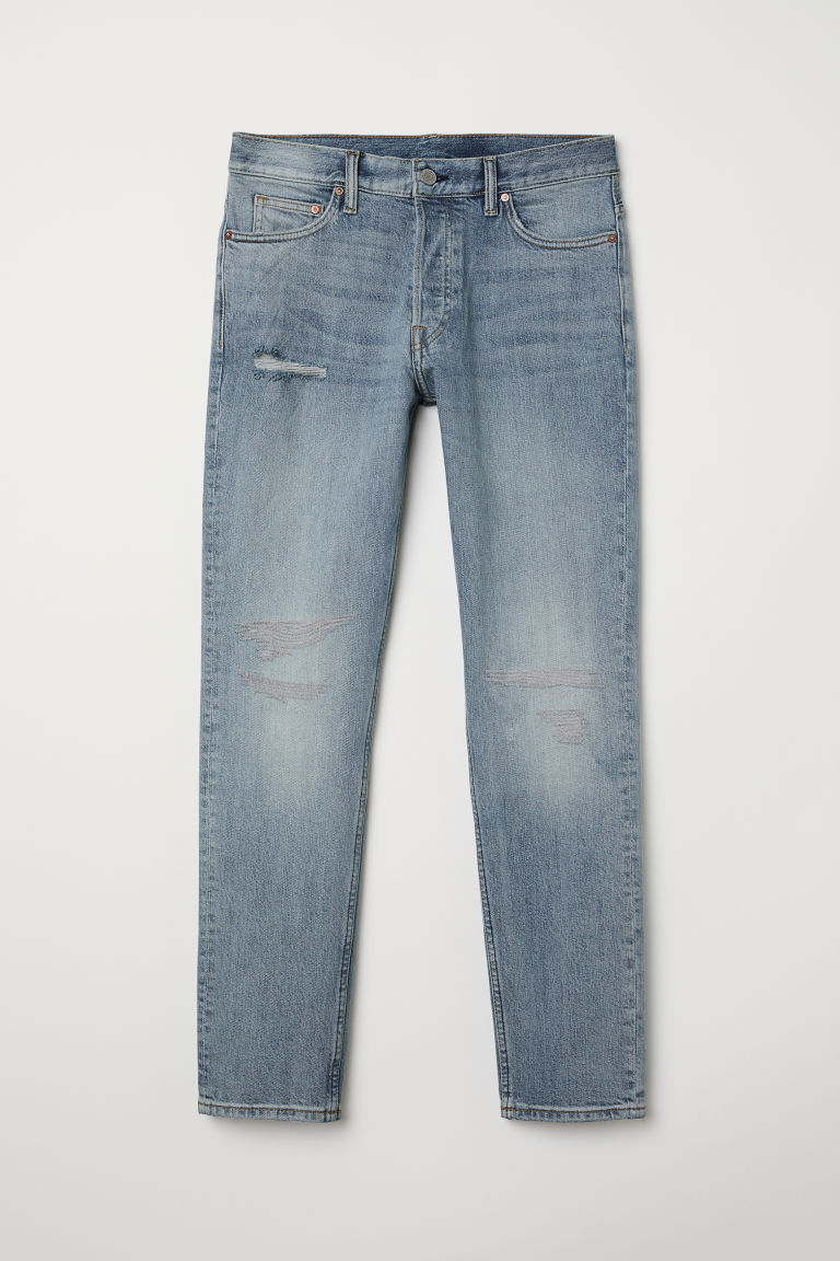 Slim Jeans - Light blue/Trashed - Men | H&M CN