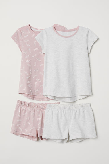 2-pack jersey pyjamas - Light grey marl - Kids | H&M CN