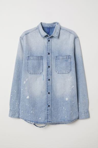 Denim shirt - Light denim blue - Men | H&M CN