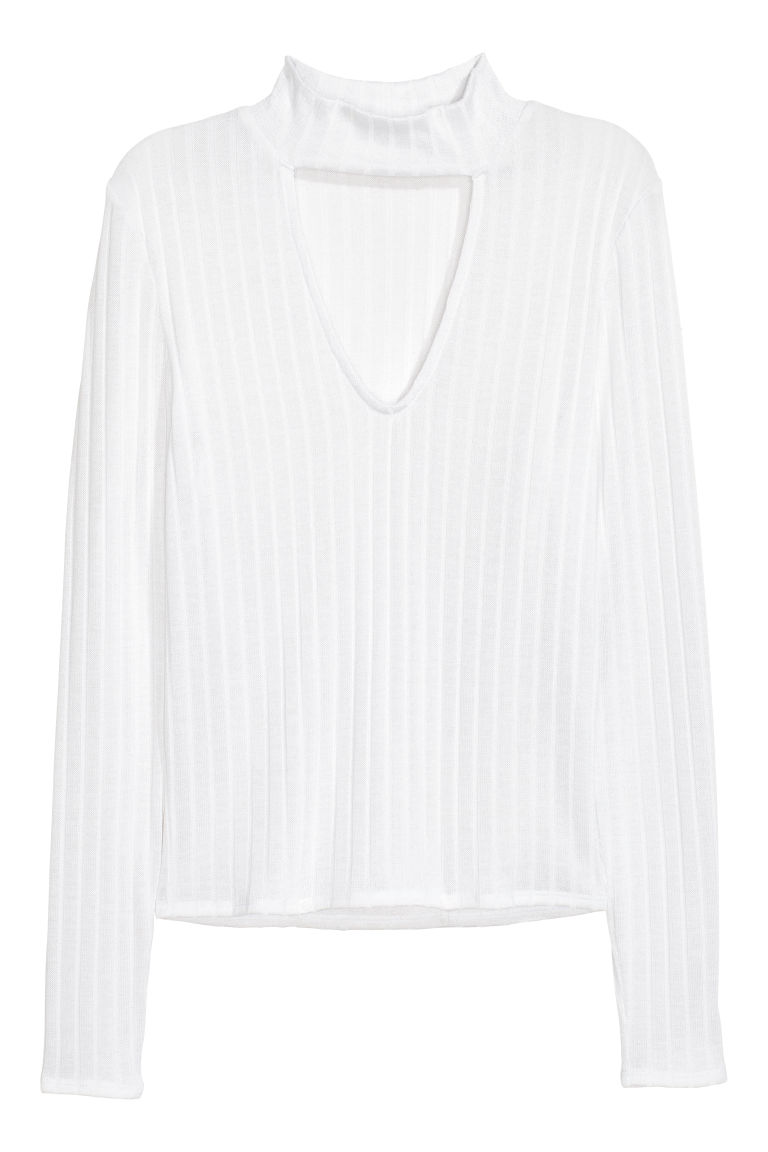 V-neck jumper - White -  | H&M CN