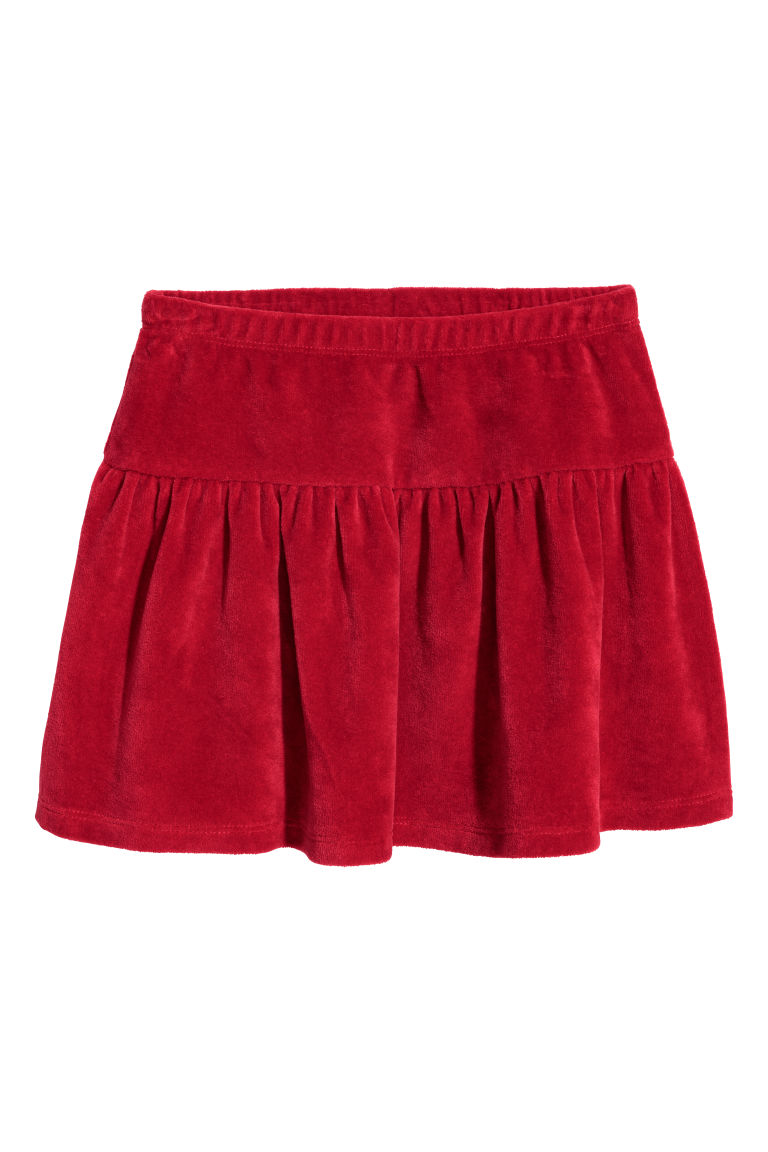 Velour skirt - Red - Kids | H&M