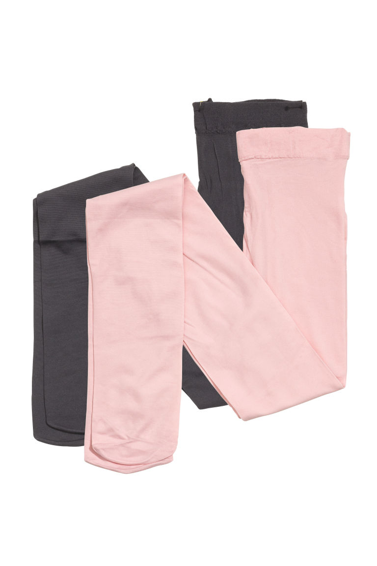 2-pack thin tights - Light pink - Kids | H&M CN