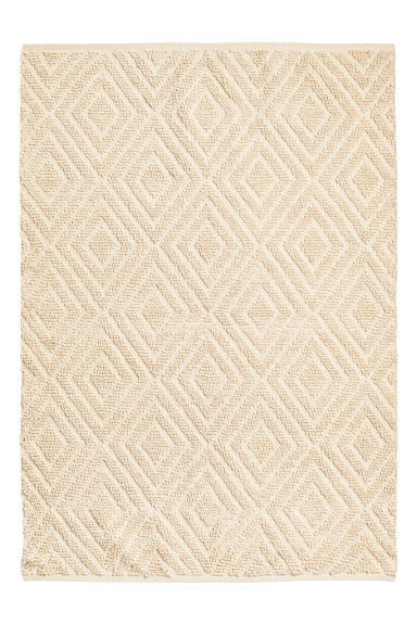Wool-blend rug - Natural white -  | H&M CN