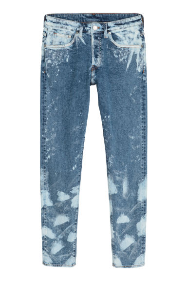 Trashed Skinny Jeans - Denim blue/Bleached -  | H&M