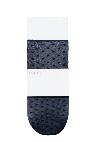 Patterned tights - Dark blue/Spotted -  | H&M