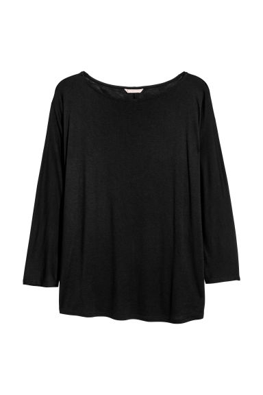 H&M+ Jersey top - Black - Ladies | H&M CN