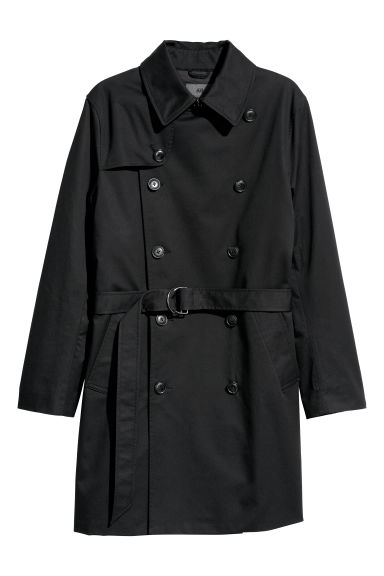 Short trenchcoat - Black -  | H&M