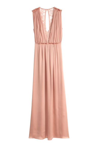 Long dress - Powder pink - Ladies | H&M