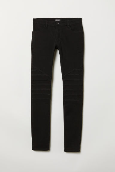 Biker trousers - Black - Men | H&M
