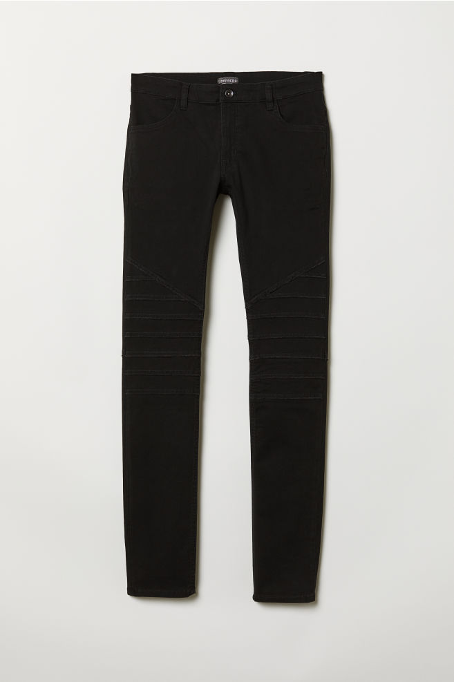 7efc95c3815e3c Biker Pants - Black - Men   H&M ...