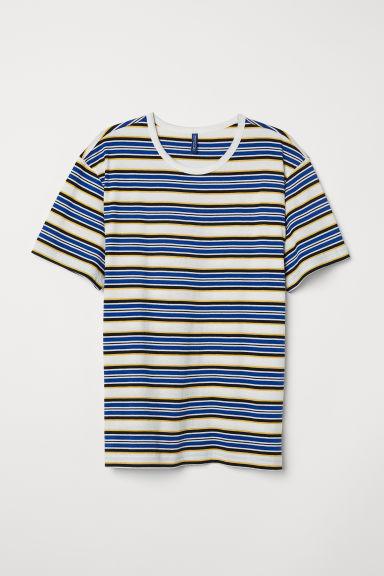 Striped T-shirt - White/Multicoloured - Men | H&M