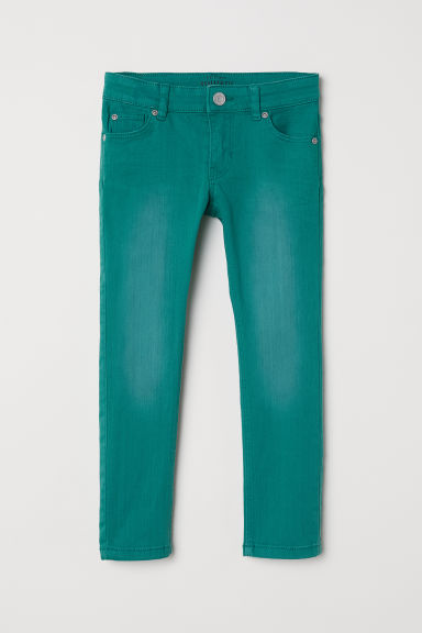 Stretch trousers - Green -  | H&M CN