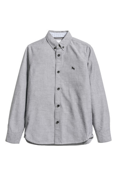 Cotton shirt - Grey/Chambray -  | H&M