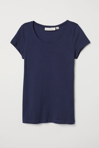 T-shirt - Dark blue - Ladies | H&M US