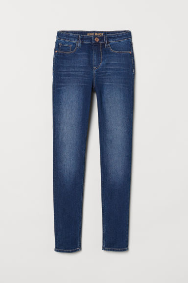 Skinny Fit Generous Size Jeans - Dark denim blue - Kids | H&M CN