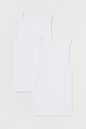 2-pack cotton vest tops