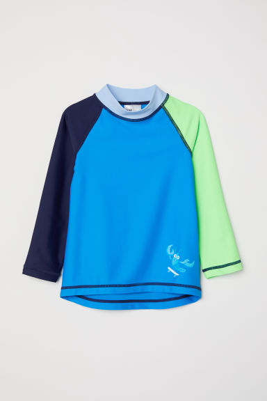 Swim top with UPF 50 - Blue - Kids | H&M