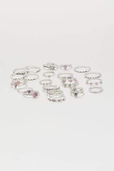 25-pack rings - Silver-coloured - Ladies | H&M