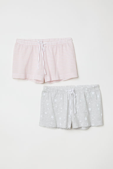 2-pack pyjama shorts - Light pink/Striped - Ladies | H&M CN