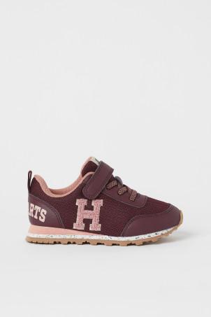 H&M 키즈 해리포터 운동화 Appliqued Sneakers,Dark red