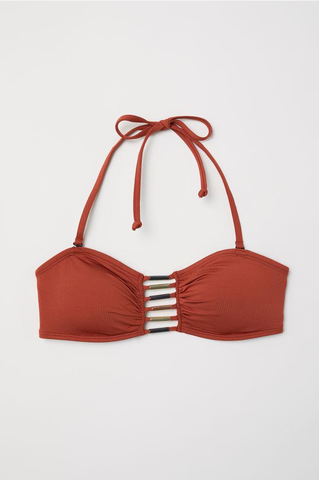 20302acb9bb1 Top bikini a fascia con lacci - Rosso ruggine - DONNA | H&M ...