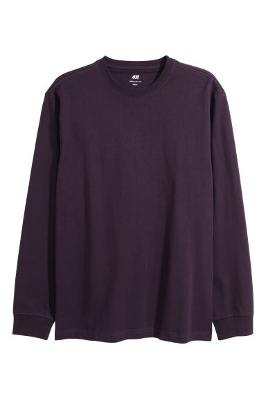 Jersey top Regular fit - Dark purple - Men | H&M