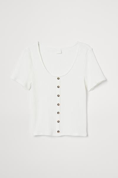 H&M - Camiseta de canalé - 5