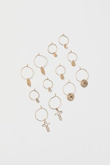 6 pairs earrings - Gold-coloured - Ladies | H&M CN