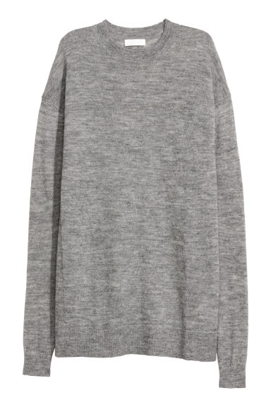 Alpaca-blend jumper - Grey marl - Ladies | H&M
