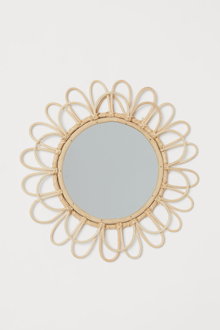 Mirror with a bamboo frame - Beige/Bamboo - Home All | H&M GB