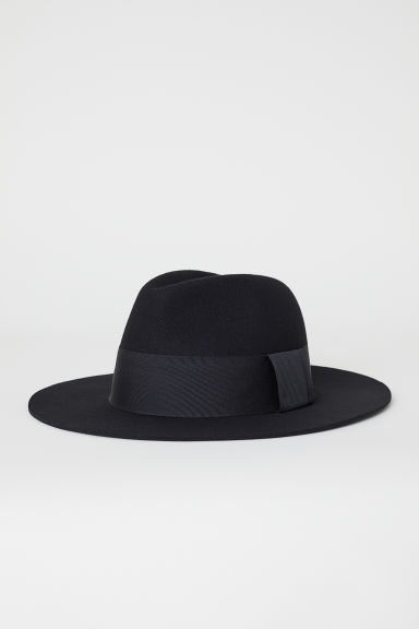 Cappello in feltro di lana - Nero - DONNA | H&M IT