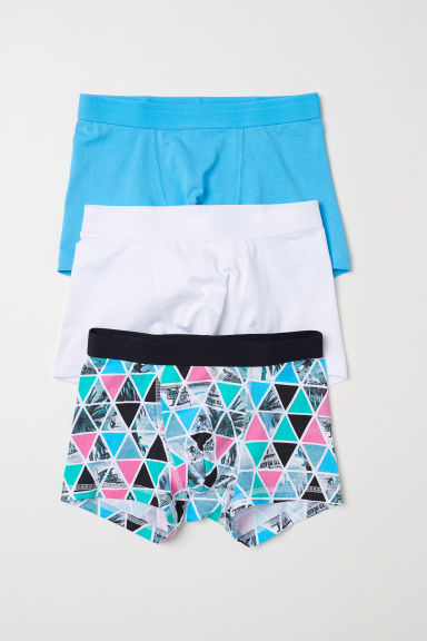 3-pack boxer shorts - Turquoise/Patterned - Kids | H&M