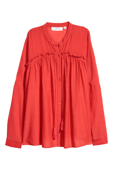 Wide blouse - Red - Ladies | H&M
