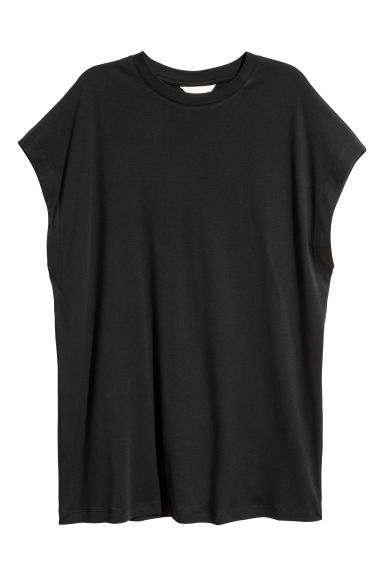 Pima cotton top - Black -  | H&M CN