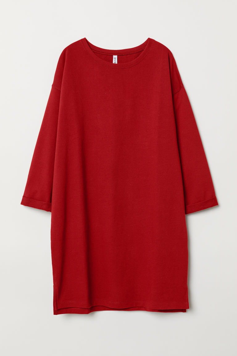 Sweatshirt dress - Dark red -  | H&M GB