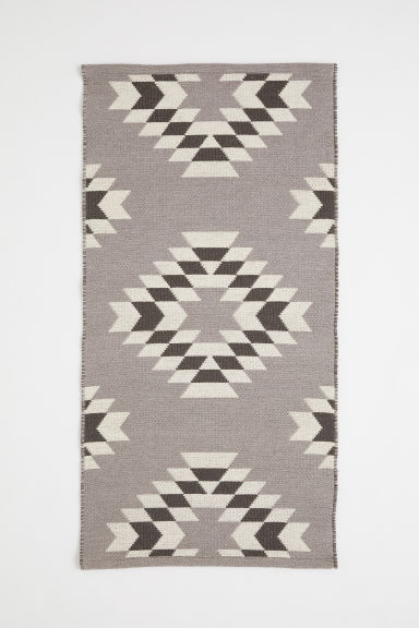 Jacquard-weave wool rug - Mole/Patterned - Home All | H&M CN